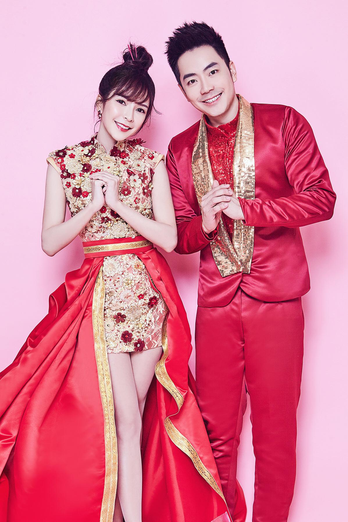 Stella Chung and Nick Chung both in custom-made costume