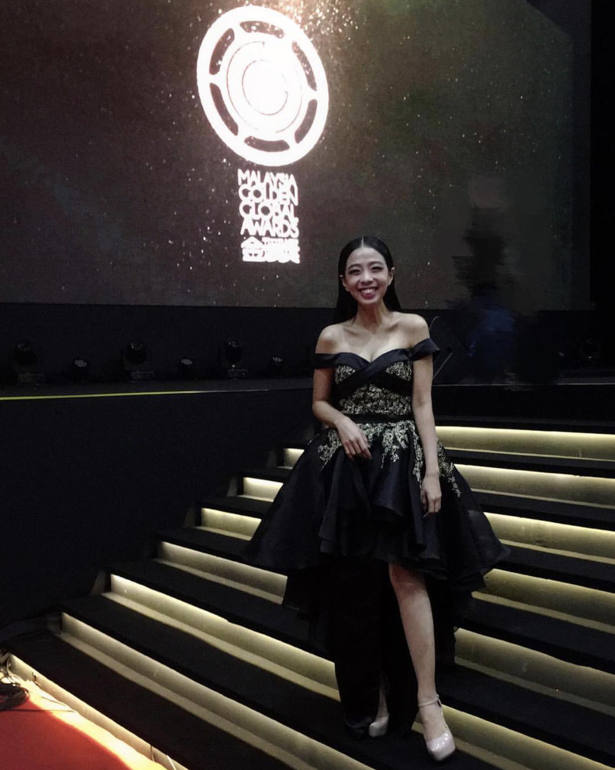 Chrystina Ang at Malaysia Golden Global Awards