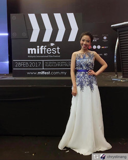 Chrystina Ang at Malaysia Golden Global Awards