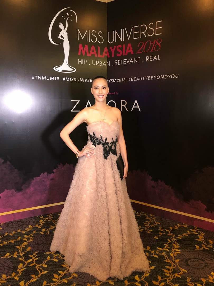 Renee won The Best Dressed at Miss Universe Malaysia 2018