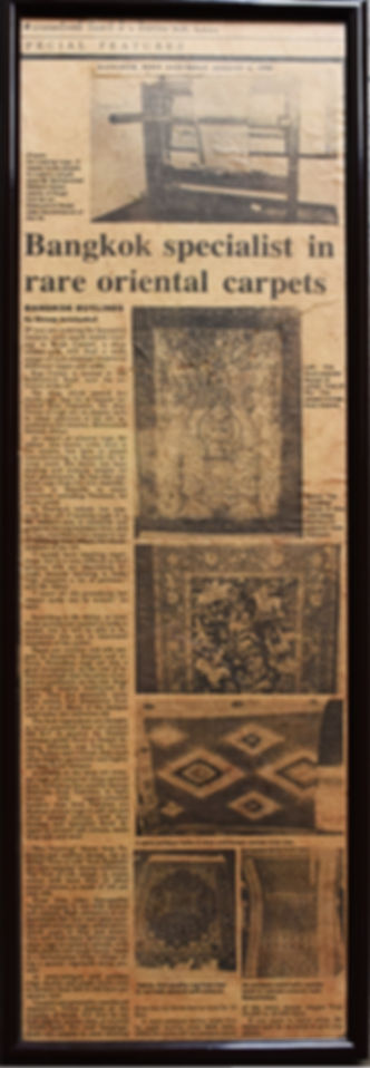Rugscorner in the BangkokPost News Paper