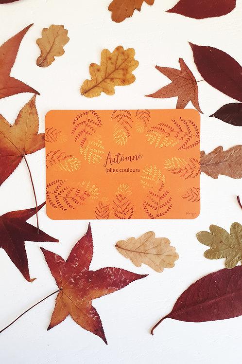 194 automne jolies couleurs fond orangé