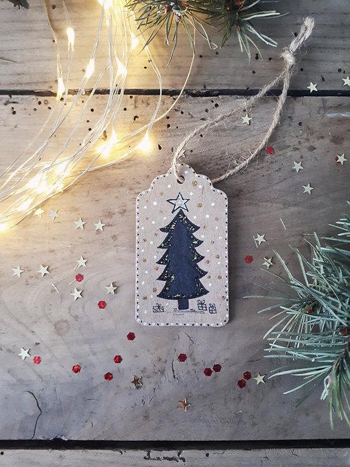 1 étiquette sapin de Noël
