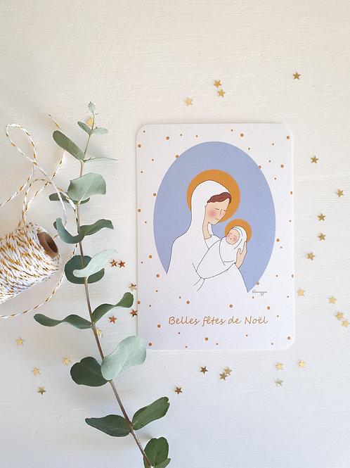 """64 La Vierge et l'enfant """"belles fêtes de Noël"""""""