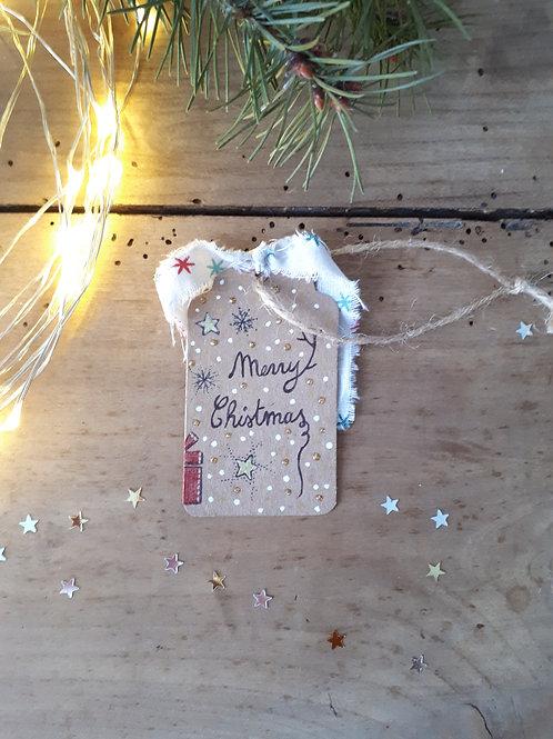 16 étiquette Merry Christmas