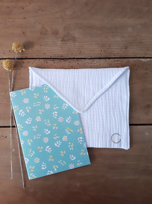 "grande pochette ""enveloppe"" blanche tissus"