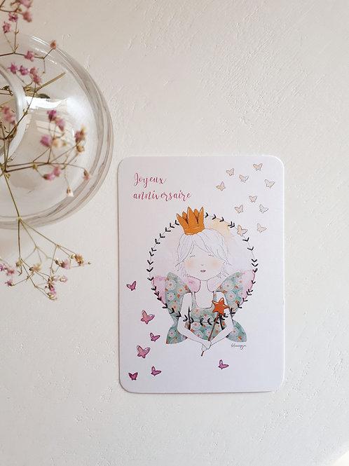 25 Joyeux anniversaire avec envolée de papillons
