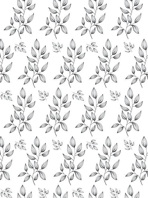 Affiche téléchageable série de branchages pointillisme