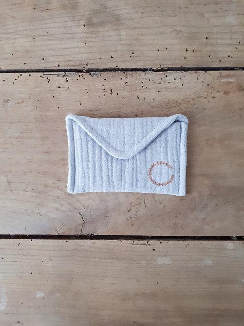 """petite pochette """"enveloppe""""  coloris gris"""
