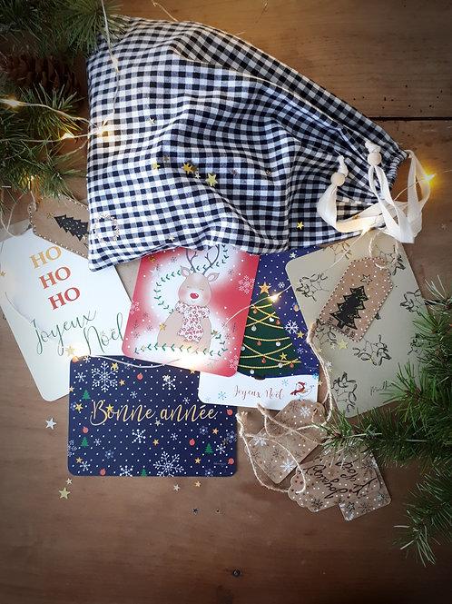 Pochette surprise de Noël (vichy)