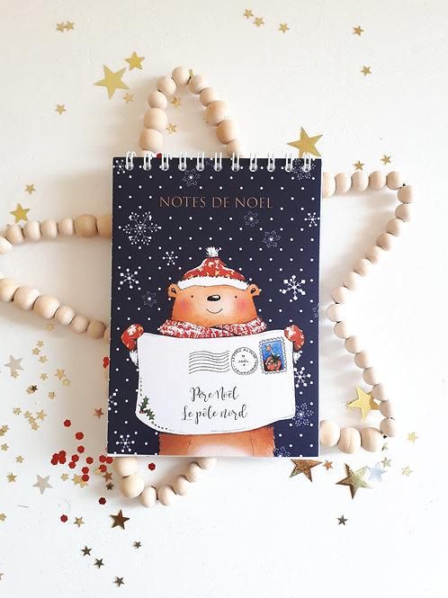 9 Carnet Notes de Noël