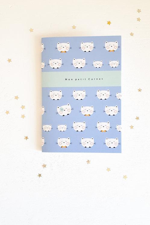 28 mon petit carnet chat fond bleu