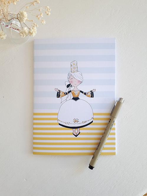 11 cahier Bretonne fond jaune et bleu