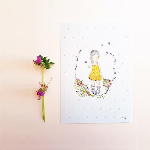 16 Fillette au bouquet de fleurs