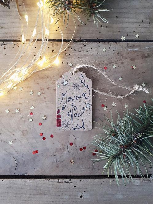 3 étiquette Joyeux Noël