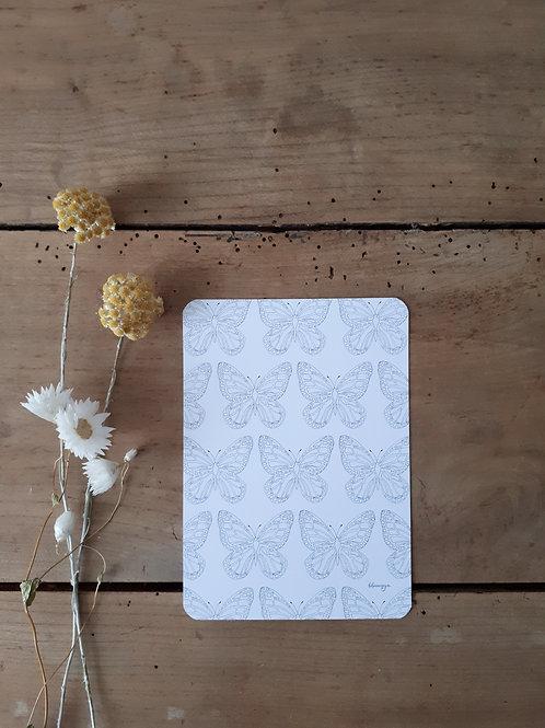 253 impression grands papillons fond blanc
