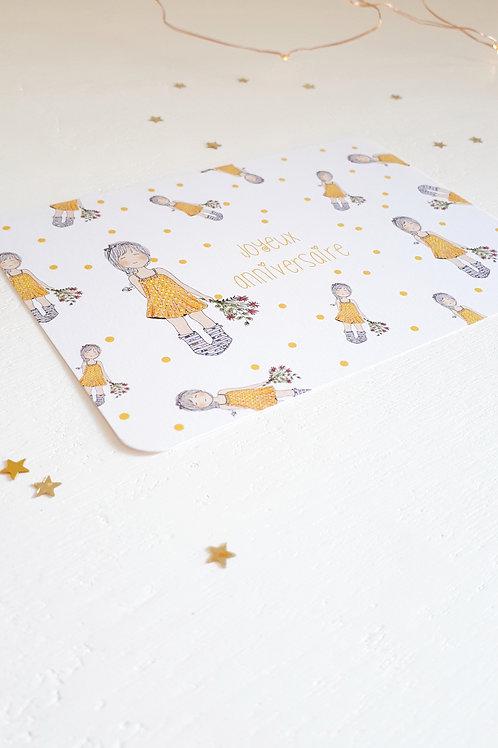 170 joyeux anniversaire Mlle petits pois jaunes
