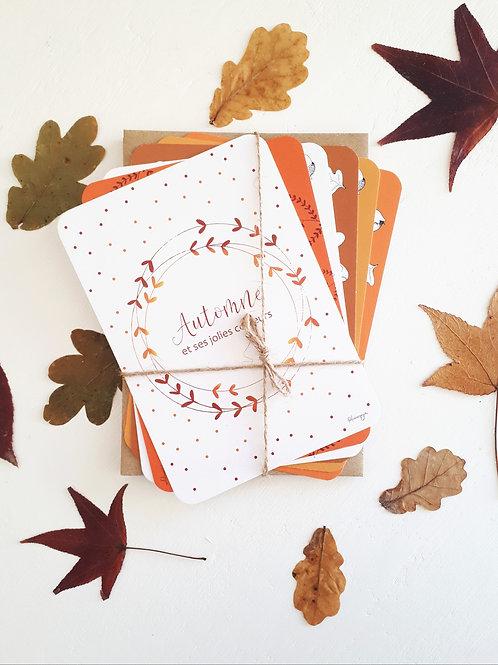 Lot de cartes Automnale et les 6 enveloppes