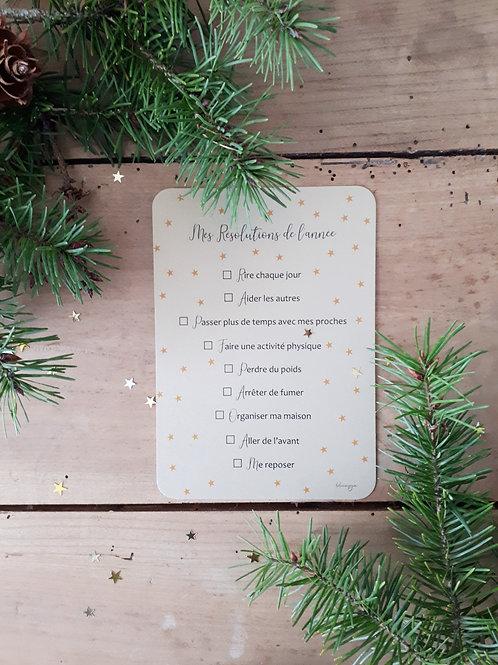 201 mes résolutions de l'année