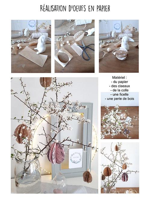 DIY Pâques , réaliser des oeufs en papier