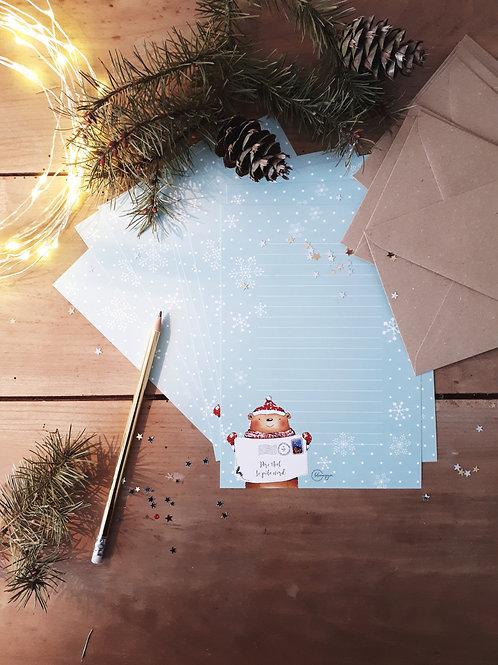 1 papier à lettres collection Noël