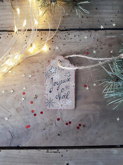 4 étiquette Joyeux Noël