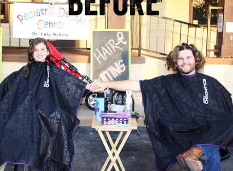 Dr. Luke Cuts 9 inches of Hair for Childhood Cancer