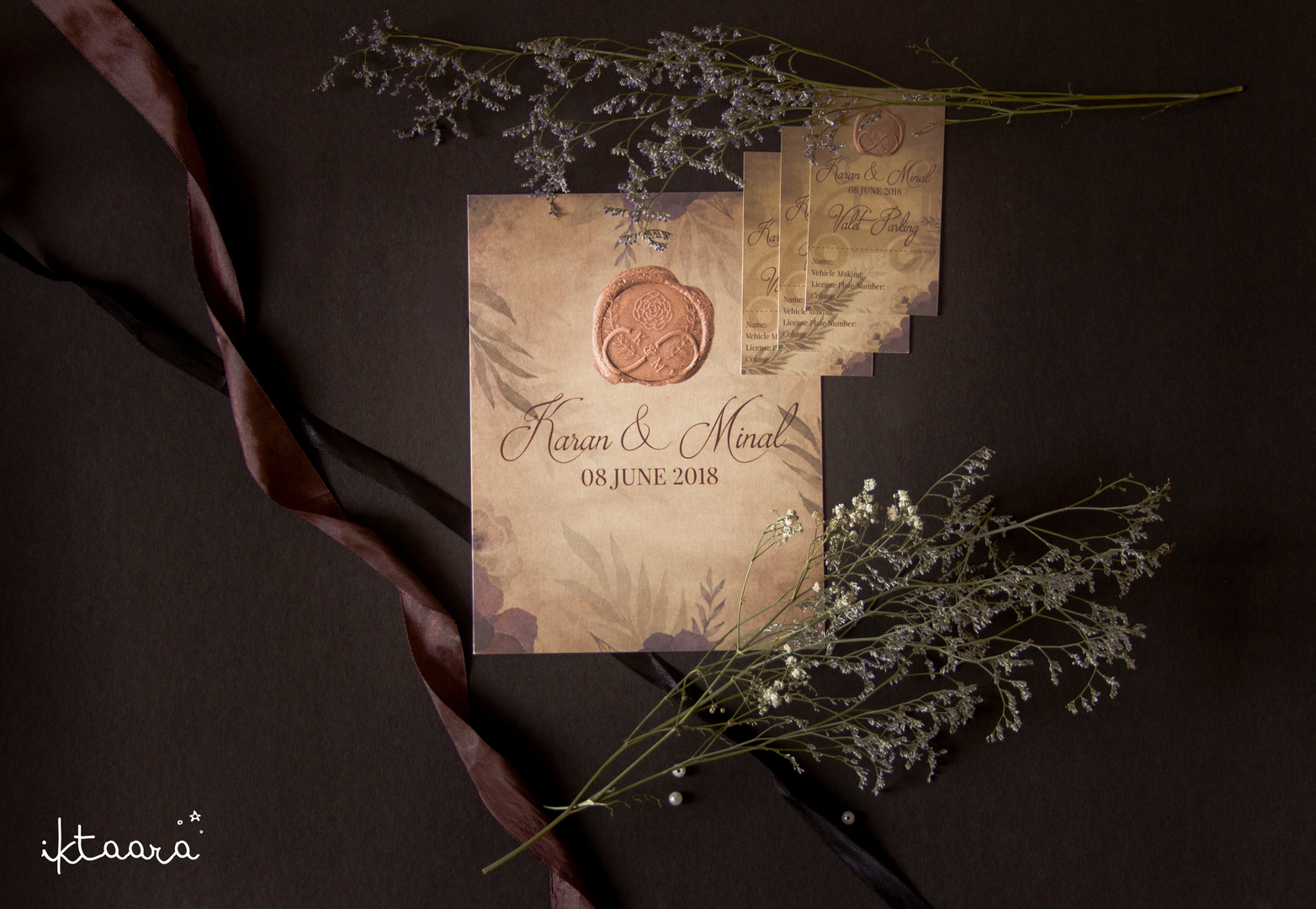 A Rustic Themed Wedding Invite