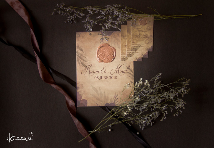A Rustic Themed Wedding Invite