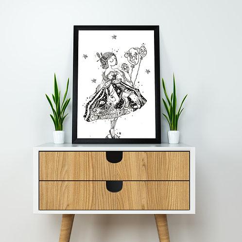 Damsel's Ballet Poster - A4