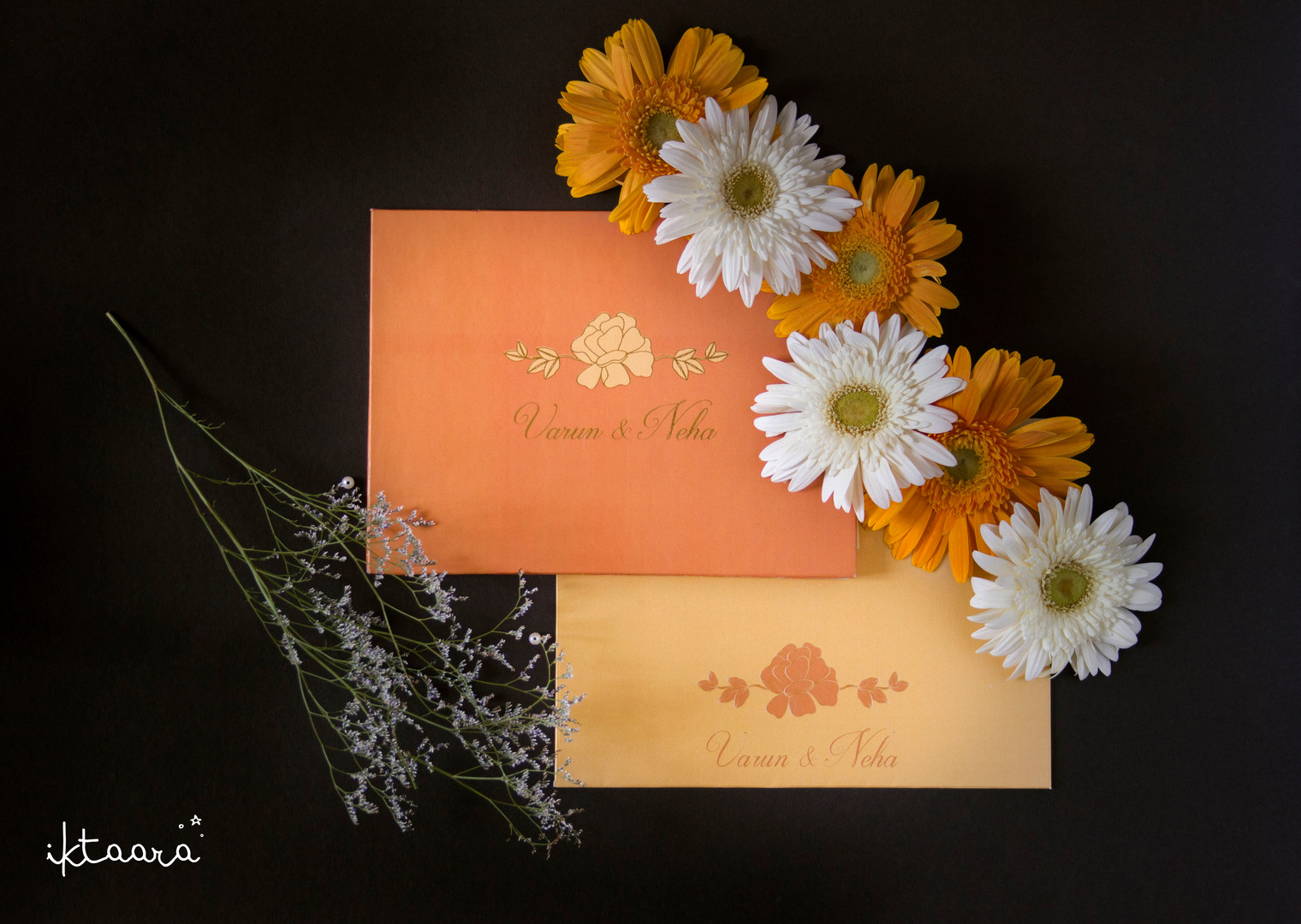 A Marigold Themed Wedding Invite