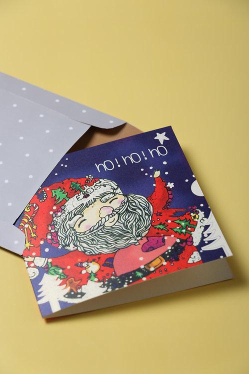 Santa's Hug Greeting Card
