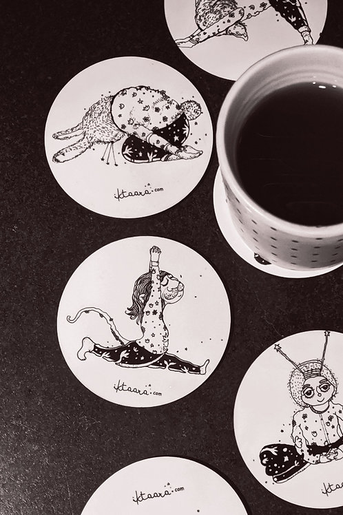 Animals in Yog coasters(set of 6)