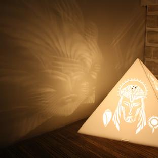 Brahma Vishnu Mahesh pyramid lamp