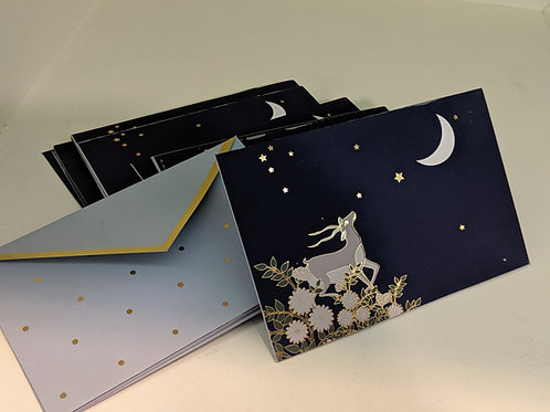 Gift envelopes (set of 6)- Deer Moon