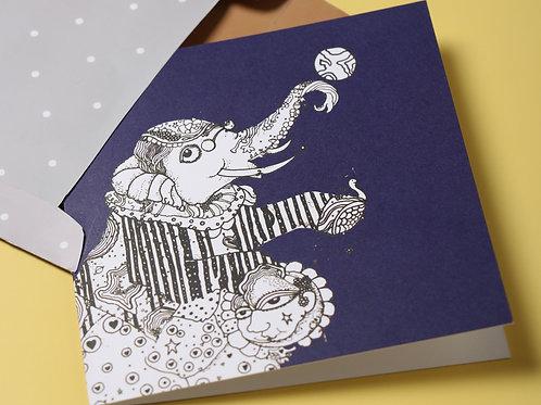 Jesper the Elephant Greeting Card