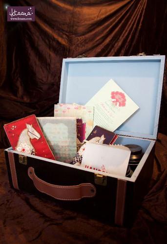 A Trunk Box Wedding Invite