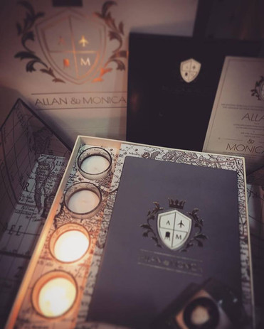 Candle Themed Invite