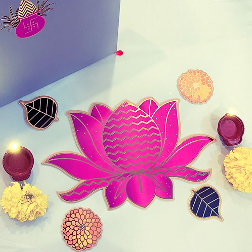 Lotus bloom Rangoli set