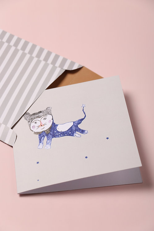 Count Furry Greeting Card