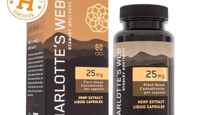 CBD liquid capsules 60ct - Charlotte's Web