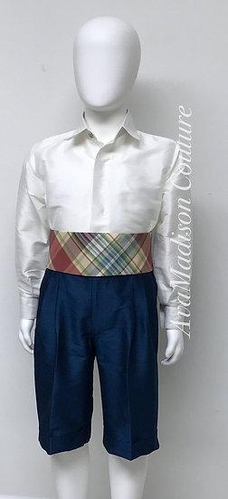 AvaClaude Page Boy Outfit - Shirt. Shorts. Cummerbund. Bow Tie.