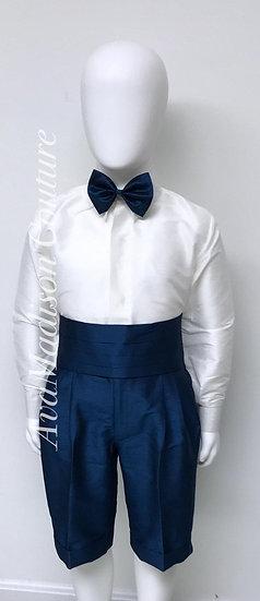 AvaDylan Page Boy Outfit - Shirt. Shorts. Cummerbund. Bow Tie.