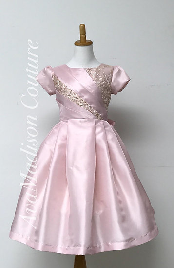 AvaLea Elegant Taffeta Flower Girl Dress
