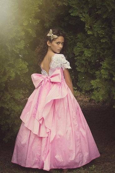 AvaBlaine Elegant Taffeta Flower Girl Dress