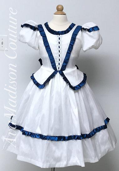 AvaStella Girl Dress with Peplum. Clara's Costume.