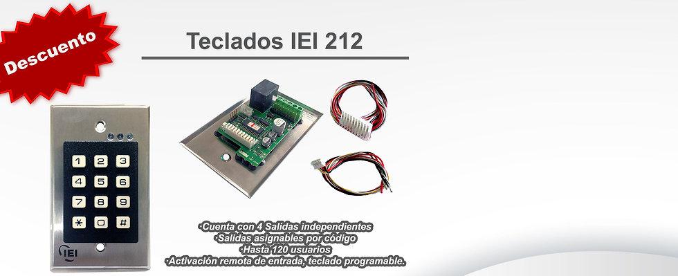 Teclado IEI-212i Comercializadora TEJECI