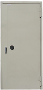 Puerta blindada con sistema de combinación