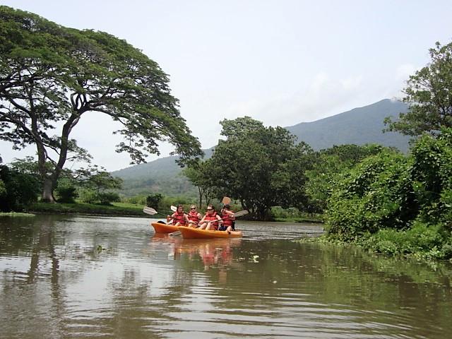 tourist paddling