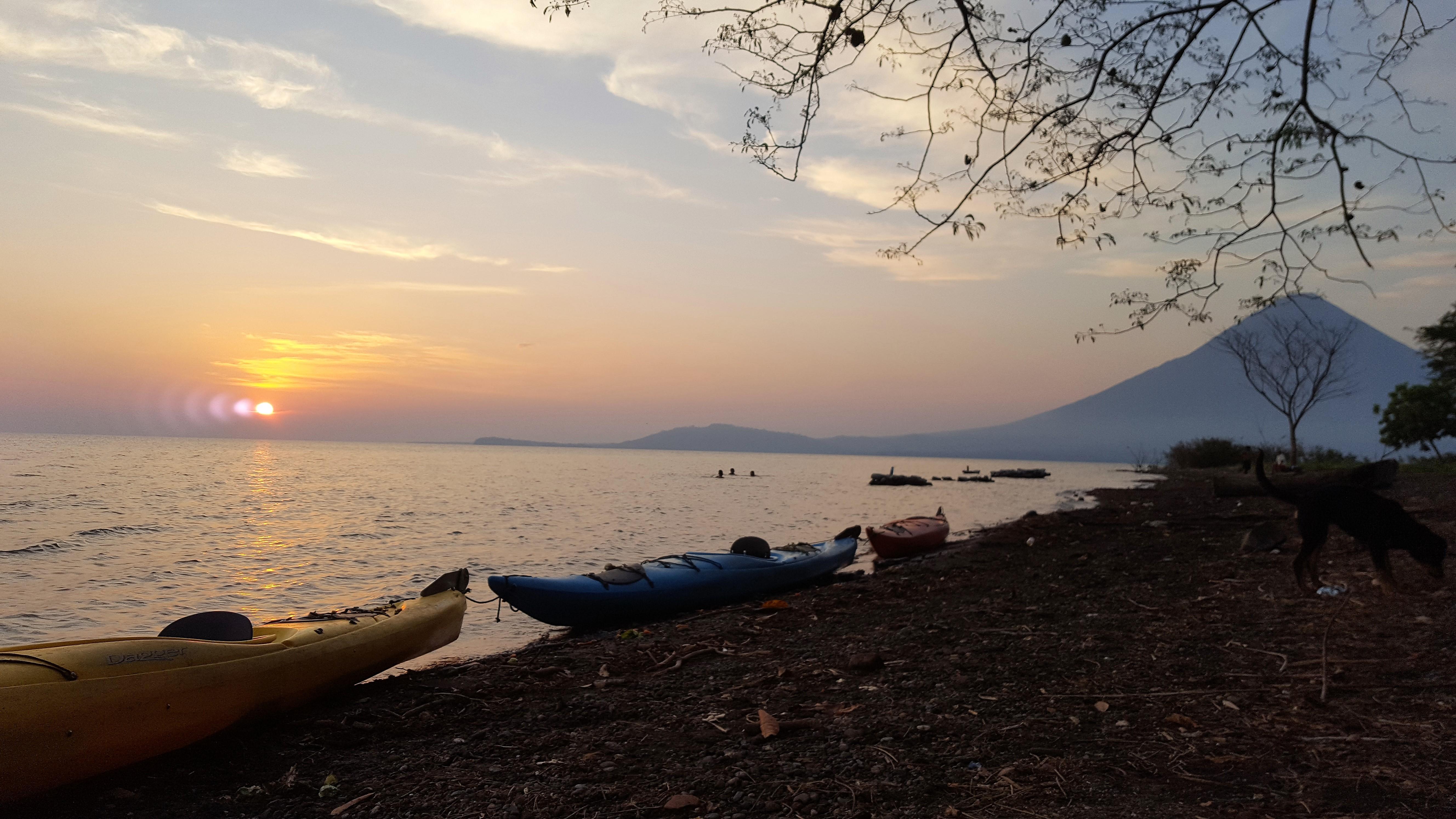 Kayak during sunset